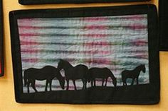 - Silhoutte Horses  Another applique wallhanger