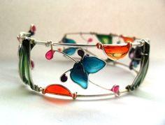 ** Nail Polish Wire Flowers Jewelry