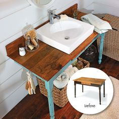 Expert Secrets for Buying Salvage   My Home My Style eNotes   I love this idea - it would actually work well in our upstairs bathroom!