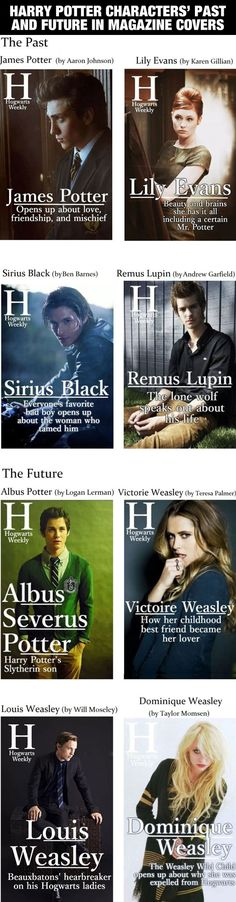 Harry Potter - Past and Future Magazine Covers