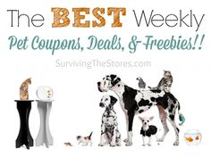 This round-up has tons of coupons to save on everything pet: food, toys, freebies, and more for cats, dogs, fish, birds, and even some farm animals!
