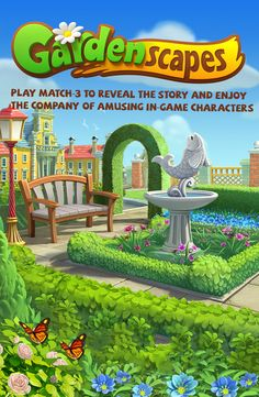 Beat match-3 levels, restore and decorate  the garden, and enjoy the company of amusing in-game characters
