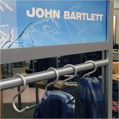 A colorful branded Winter scarf display bt John Bartlett® employs nicely finished Aluminum S-Hooks as a central element. Step through the gallery of images to zoom in on the hookery. Compare the co. Scarf Display, Scarf Necklace, Hooks, Retail, Colorful, Gallery, Winter, Image, Shops