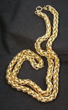 Massive Napier Gold Plated Dimensional Woven Necklace #vintagenecklace #Napier #chainnecklace $39.00