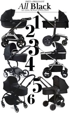 Styled by Prêt à Pregnant: 6x all black strollers
