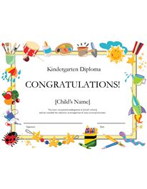 pdf-21 rules of this house printable kindergarten diploma