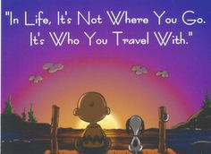 Charlie Brown Snoopy In Life It's Not Where You by MagnetsbyAbby