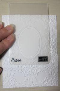 Double embossing - designer folder - Designer Frames Double Texture Embossing February 18, 2012