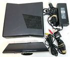 XBOX 360 S 4GB Console Bundle w/ Kinect AC Adapter Brick No HDD - Works/Reset