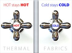 Keep Hot Hot and Cold Cold:  Guide to Thermal Fabrics