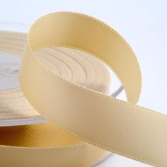 Classic cream luxury satin ribbon - 6 widths available