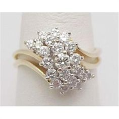 Waterfall Diamond Cluster Ring