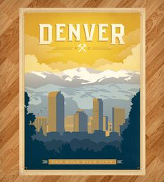 Denver, Colorado Print | Art Prints | Anderson Design Group | Scoutmob Shoppe | Product Detail