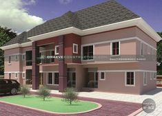 & 3 Bedroom Apartments Plan design in Nigeria (Port Harcourt) 3 Bedroom Apartment, Apartment Plans, Construction Services, Penthouses, Plan Design, Car Parking, Building Design, Bungalow, Mansions