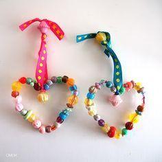 Perlen-Herzen...