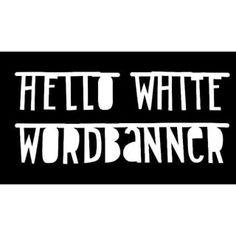 #Wordbanner #tip: Hello wthite wordbanner - Buy it at www.vanmariel.nl - € 12,95