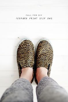 Fall For DIY leopard print slip ons!
