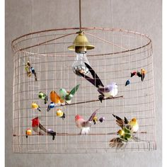 Bird cage lamp.  Saw one of these but hubs thought I had LOST MY MIND.  He's not a fan of birds.  Too bad- I think its fun and funky