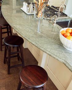 Green Granite Island - this looks like the hl green I have in my new bathroom - love it!!!