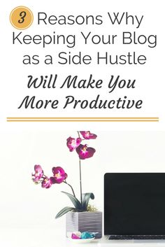 Do you dream of turning your blog into a full-time job? Believe it or not, having a side hustle can make you more productive. Click through to find out why you might want to keep your blog as your side hustle.