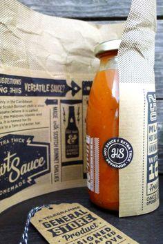 HAWT SAUCE packaging
