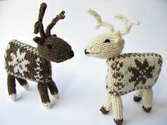 Ravelry: Knitted Reindeer pattern by Linda Regel