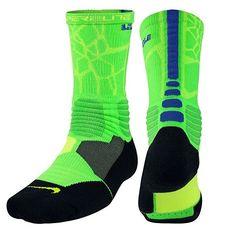 Nike Hyper Elite Basketball Socks Youth Shoe Size 3Y-5Y Crew SX4885-344 $20 #NIKE #Crew
