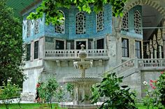Pavilion at Topkapı Palace, Istanbul, Turkey.  A  person could spend days seeing the Topkapi Palace.  One day not enough...