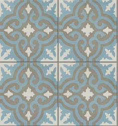 Casablanca encaustic tiles. These cement patterned tiles look great bathroom floors and walls, hallways and as splash backs.