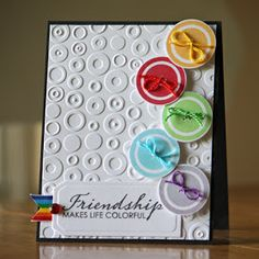 Embossed with circles