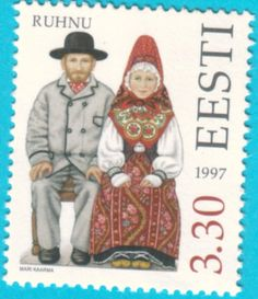 All* Estonian stamps: Folk costumes - Ruhnu Island