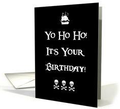 Pirate Happy Birthday Humor card