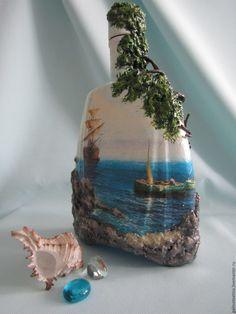 """Купить декоративные бутылки """"морской бриз"""" - подарок, подарок на любой случай, сувениры и подарки, комбинированный"""