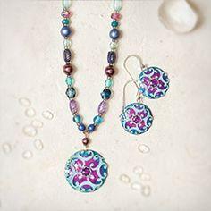 Abela Necklace ($100) and matching Abela Earrings, by Holly Yashi.