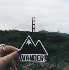 Traveler Kit and Co Sticker Wander Adventure by Travelerkitandco