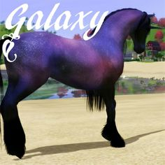 Galaxy by AddySwe - The Exchange - Community - The Sims 3 The Sims 3 Pets, Alien Worlds, Medieval Fantasy, Sims Cc, Corgi, Sims House, Horses, Tack, Carousel
