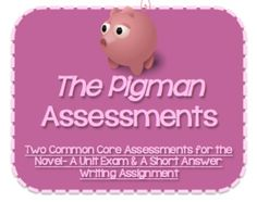 Printables The Pigman Worksheets rebel without a cause worksheets and the movie on pinterest two common core assessments for novel pigman