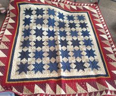blue star, red white blue, star quilts