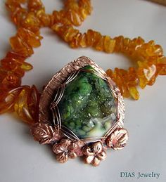DIAS Jewelry: Wire and Art clay Copper with Baltic Amber