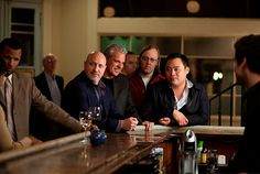 oooh, for a girl to see that at the end of a  bar. colicchio AND chang giving those come hither eyes. but chang scores the win by rocking members only. | Treme S01E05