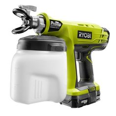 Ryobi ProTip Corded Sprayer is designed to pick paint up at its lowest point for continuous spray. Ideal for decks, fences, garage doors and cabinets. Ryobi Cordless Tools, Ryobi Tools, Power Tool Storage, Shed Storage, Hvlp Paint Sprayer, Paint Sprayers, Woodworking Power Tools, Woodworking Projects, Modern Tools
