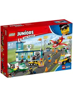 LEGO Juniors - City Central Airport and thousands more of the very best toys at Fat Brain Toys. With LEGO juniors, younger builders get to feel like the big kids building with real LEGOs but without the frustration of complex c. Lego Store, Shop Lego, Lego City, Lego Juniors, Lego Technic, Legos, Lego Junior Sets, Avion Cargo, Construction Lego