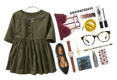 """""""Watch"""" by ellasfluffycats ❤ liked on Polyvore featuring Old Navy, Mossimo, J.Crew, Jennifer Zeuner, Warby Parker, Anastasia Beverly Hills, S'well, Sonix, Urbanears and Eyeko"""