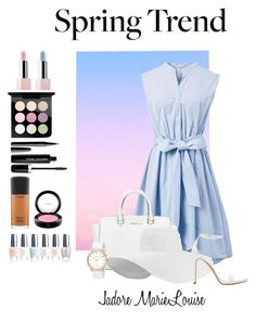 """""""Spring Trend (LOOK #214)"""" by marielouisegray ❤ liked on Polyvore featuring Chicwish, Michael Kors, Zara, Sephora Collection, MAC Cosmetics, Marc Jacobs, OPI and Marc by Marc Jacobs"""