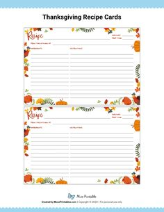 Most up-to-date Totally Free thanksgiving recipe cards Suggestions I didnrrrt grow up having corresponding products within the kitchen. For decades we got mismatched recipes, gl. Printable Recipe Cards, Recipe Printables, Free Printable, Homemade Recipe Books, Diy Recipe, Cookbook Design, Cookbook Ideas, Book Design Templates, Planning Budget
