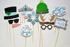 Articles similaires à Thème thème ou Winter Wonderland congelé Photo Booth Prop sur Etsy
