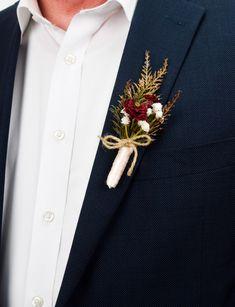 Rustic Boutonniere, Groomsmen Boutonniere, Groom And Groomsmen, The Groom, Winter Boutonniere, Rustic Wedding Groomsmen, Flower Crown Bride, Floral Crown Wedding, Wedding Flowers