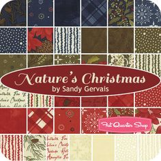 Nature's Christmas Layer Cake Sandy Gervais for Moda Fabrics - Fat Quarter Shop