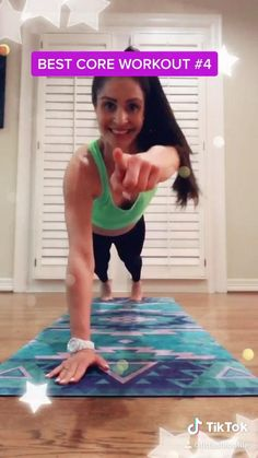 Fitness Herausforderungen, Fitness Workout For Women, Home Workout Videos, At Home Workouts, Pilates Workout Videos, Pilates Training, Training Videos, Plank Challenge, Workout Challenge