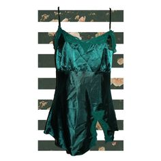Emerald Green Satin Lace Camisole Sz S Gorgeous emerald green cami with lace trims. Adjustable straps for desired fit.  Pre-owned. No holes, rips, or stains.  Measurements & additional photos upon request   BUNDLE & SAVE! 15% off 2 or more items!   ID: B26 Tops Tank Tops